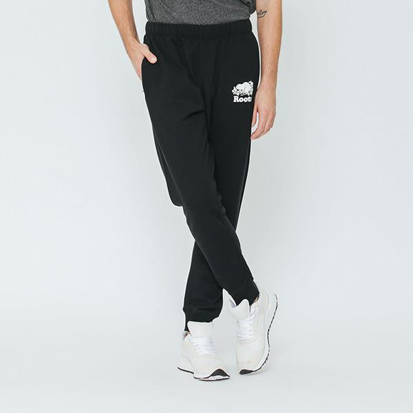 男裝-Roots 經典棉質休閒棉褲 - 黑色