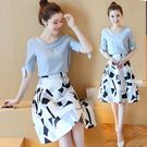 雪紡洋裝新款氣質顯瘦中長款兩件套連衣裙 ...