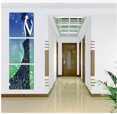 裝飾畫客廳現代無框畫玄關走廊豎版牆畫人物掛畫家居飾品壁畫2