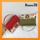 手提小方包側背包小包包迷你包肩背包前扣式圖騰花朵-紅/綠/粉/黑【AAA2422】預購