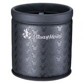 車之嚴選 cars_go 汽車用品【WD-213】日本 NAPOLEX Disney 米奇 本革調 圓型垃圾桶