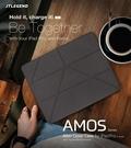 JTL iPad Pro 11 (2020) Amos 鏡頭翻蓋折疊布紋皮套(含筆槽) A2228/A2068/A2230 多角度站立平板側掀