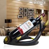 紅酒架子 簡約美式餐廳個性鹿角紅酒架擺件創意酒瓶架家居飾品樣板房擺設igo 麥琪精品屋