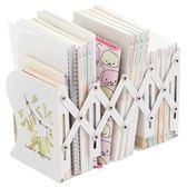 可伸縮書立架折疊書夾創意小學生用簡易書擋板高中生桌上簡約書靠 英雄聯盟