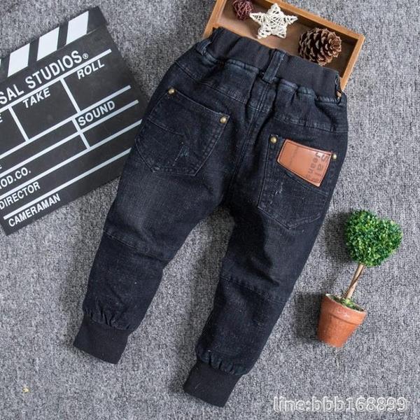 牛仔褲 兒童褲子男童牛仔褲春秋新款中大童修身長褲童裝小腳褲韓版潮 城市科技