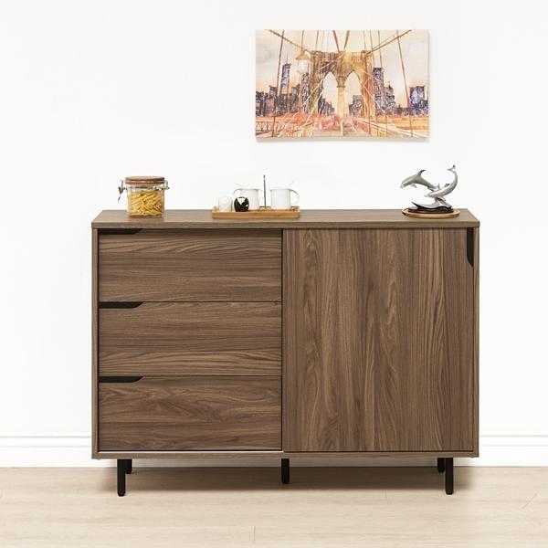 日本直人木業-WANDER胡桃木121公分廚櫃