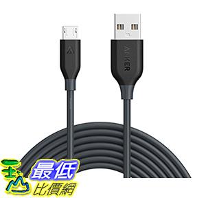 [106美國直購] Anker PowerLine Micro USB(10ft)充電線傳輸 -Charging Cable with Aramid Fiber-Space Gray
