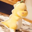 可愛恐龍抱枕可愛恐龍毛絨玩具布娃娃睡覺公...