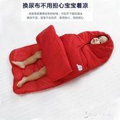 嬰兒睡袋兒童新生兒空調房防踢被寶寶抱被保暖防寒哈衣出行服0-1  東京衣秀