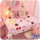 可愛寢室粉色書桌桌布化妝臺書桌墊座【英賽德3C數碼館】