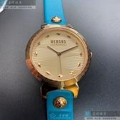 VERSUS VERSACE凡賽斯女錶36mm米粉色錶面淺藍錶帶