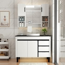 衛浴歐式pvc小戶型浴室櫃組合簡約洗漱台洗臉洗手盆台盆吊櫃鏡櫃 夢幻小鎮