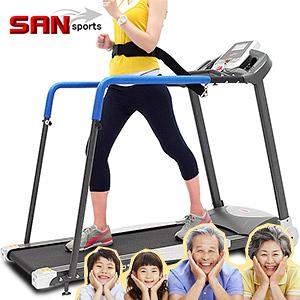 SAN SPORTS守護者3.5HP電動跑步機(安全扶手+低速0.3公里+8組避震墊)老年人銀髮族專用電跑