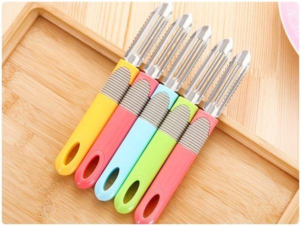 【三用水果刨刀】三合一水果削皮刀 去籽 刮魚鱗刀 削皮器 去芽器 去皮器 水果刀