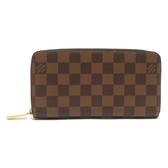 LV LOUIS VUITTON 路易威登 棋盤格ㄇ字型拉鍊長夾 N60015 【二手名牌BRAND OFF】