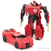 男孩變形玩具金剛擎天大黃蜂警車汽車機器人幼兒童益智力手拼玩具CC2789『毛菇小象』