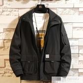 工裝外套男士春秋季加肥加大碼胖子寬鬆夾克青年棒球服上衣  雙12購物節