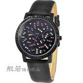 NATURALLY JOJO 絕對晶鑽時尚腕錶-黑夜璀璨
