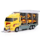 兒童貨柜車大卡車玩具挖掘機消防車合金小汽車模型男孩工程車套裝【韓衣舍】