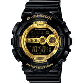 CASIO 卡西歐 G-SHOCK 黑金 高亮度LED運動錶 GD-100GB-1DR / GD-100GB-1
