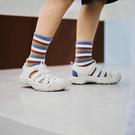 搖搖鞋 2021夏季新款運動涼鞋女大頭洞洞鞋沙灘鞋女厚底可愛搖搖底羅馬鞋寶貝計畫 上新