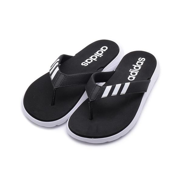 ADIDAS COMFORT FLIP FLOP 夾腳運動拖鞋 黑白 EG2069 男鞋