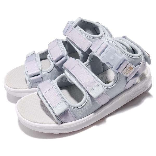New Balance 涼鞋 750 NB 藍 粉藍 白 韓系 魔鬼氈 女鞋 涼拖鞋【ACS】 SD750IBD