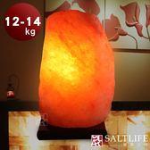 【鹽夢工場】原礦系列-玫瑰鹽燈(12-14kg|原木座)