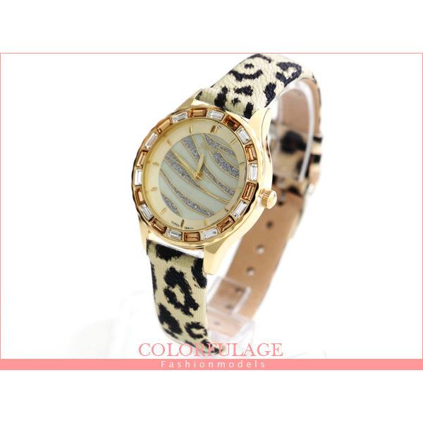 柒彩年代【NE473】韓國品牌JuLius錶款 獨家豹紋美鑽錶 復古女孩必搭約會~單支價格