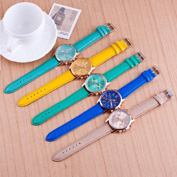 [24hr-台灣現貨] 韓國 韓版 極簡 休閒 三眼 大錶盤 手錶 女錶 男 女 錶 皮帶 情侶 對錶 手錶