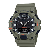 CASIO 卡西歐 手錶專賣店 HDC-700-3A2  簡約雙顯男錶 橡膠錶帶 墨綠色 十年電力 防水100米 HDC-700