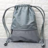 束口袋抽繩雙肩包男女通用戶外旅行背包防水輕便折疊運動健身包袋             多莉絲旗艦店