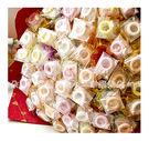 幸福朵朵【戒指糖二入花棒(50支入)花束】婚禮小物二次進場/情人節求婚告白