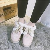 雪地靴秋冬季韓版新款原宿學生鞋子毛毛短靴加絨棉鞋豆豆鞋潮 蘿莉小腳ㄚ