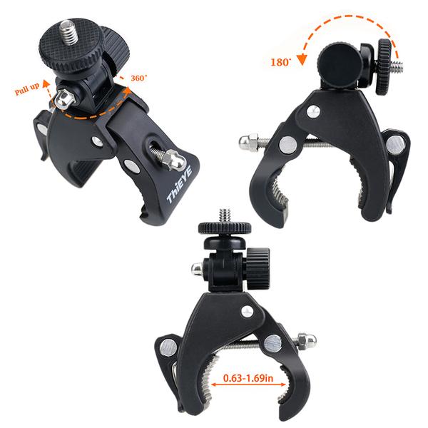 【EC數位】ThiEYE 圓桿固定夾 16-43mm 自行車腳架 摩托車腳架 橫桿腳架