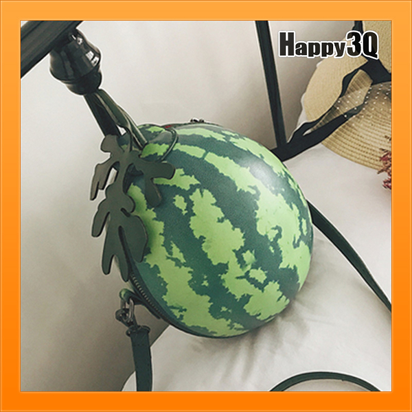 搞笑西瓜包圓型包手提包圓包斜背包交換禮物搞笑小玉西瓜隨身包-西瓜【AAA4419】預購