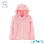 【美國 carter s】粉紅貓咪耳朵連帽外套(6-8)-台灣總代理