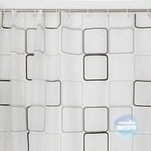 浴簾 PEVA浴簾 加厚浴室簾子 防水防霉  黑白格子 1色