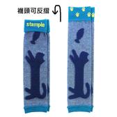 【出清】日本 stample 貓咪雙面織襪套/襪套(海軍藍)-100%日本製~2016秋冬新品