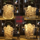 送冰夾玻璃保溫紅酒啤酒冰桶家用KTV酒吧大小號歐式冰塊桶香檳桶 小明同學
