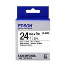 [哈GAME族]免運費 可刷卡 愛普生 EPSON LK-6WBN 標籤機色帶 標籤帶 白底黑字 24mm
