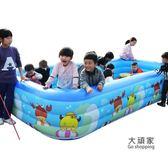 充氣泳池 嬰幼兒童家用游泳池超大號充氣寶寶保溫洗澡桶加厚小孩游泳戲水池