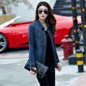 牛仔襯衫女修身彈力春秋裝新款韓版外套百搭長袖牛仔衣