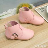 兒童短靴 單靴中小童低筒小短靴韓版小女孩公主馬丁靴 nm8816【VIKI菈菈】