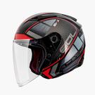 【東門城】SOL SO-7E 幻影(黑紅) 半罩式安全帽 雙鏡片