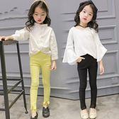 女童7新款打底褲薄款單條外穿百搭純色長褲子LJ1664