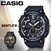 CASIO 卡西歐 手錶專賣店 國隆 MCW-200H-1A 三眼計時男錶 樹脂錶帶 深灰/銀色/深灰X金色錶面 MCW-200H