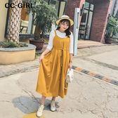 中大尺碼 抽繩收腰背心裙長洋裝~共兩色 - 適XL~4L《 67029L 》CC-GIRL  新品
