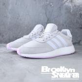 Adidas I-5923 W 米白網布 麂皮 粉紫底 休閒鞋 女 (布魯克林) B37973