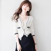 針織開衫 開衫外套女針織新款小香風上衣短款網紅夏外搭薄款春秋季外穿